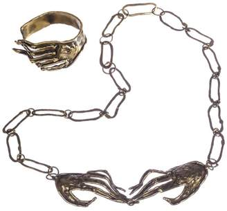 Brutalist Mexican Handmade Hand Necklace Bracelet Set