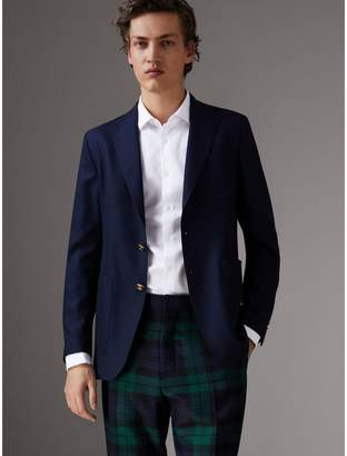 Burberry Slim Fit Wool Hopsack Tailored Jacket