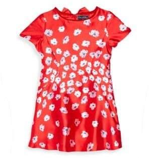 Oscar de la Renta Toddler's, Little Girl's& Girl's Floral Bow Dress