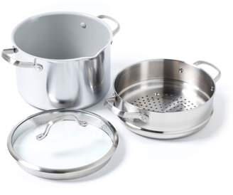 Green Pan Venice Pro 8-Quart Multilayer Stainless Steel Ceramic Nonstick Stock Pot with Steamer Inset & Glass Lid