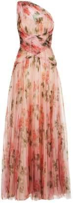Alexander McQueen Rose One-Shoulder Gown