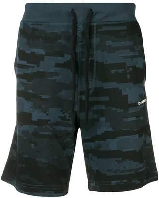 Diesel camouflage print bermuda shorts