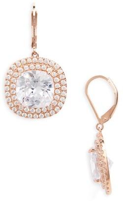 Women's Nina Cushion Cut Drop Earrings $95 thestylecure.com