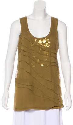Magaschoni Ruffled-Accented Sleeveless Top w/ Tags