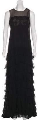 Robert Rodriguez Silk Evening Dress