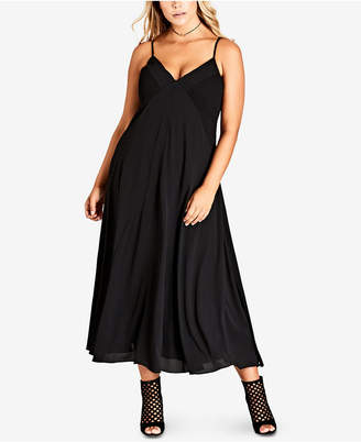 City Chic Trendy Plus Size Boho-Chic Maxi Dress