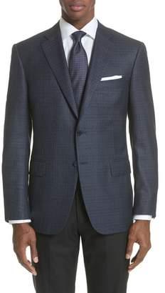 Canali Classic Fit Plaid Silk & Wool Sport Coat