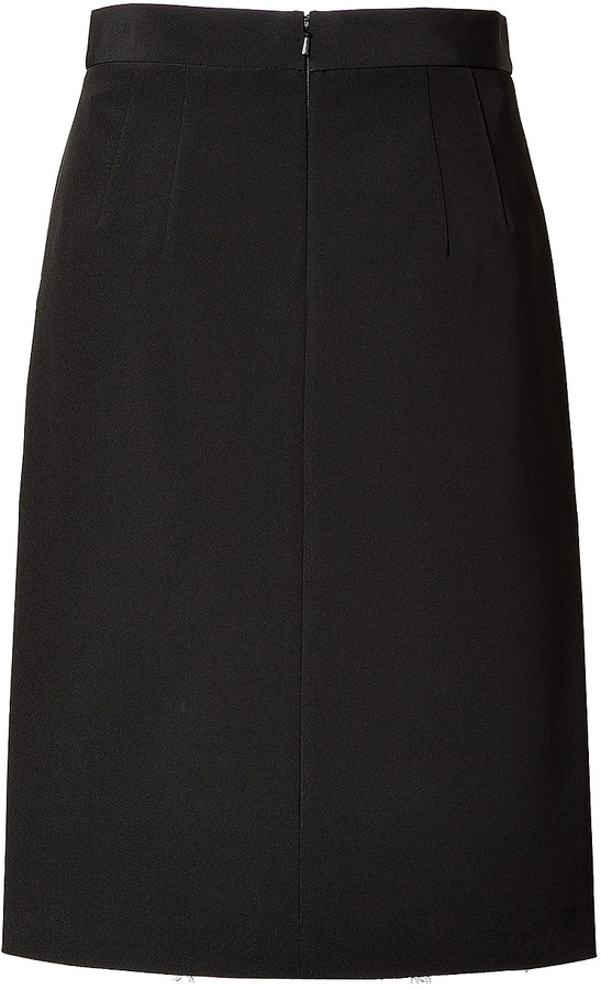 DKNY Pencil Skirt in Black with Gold Lace