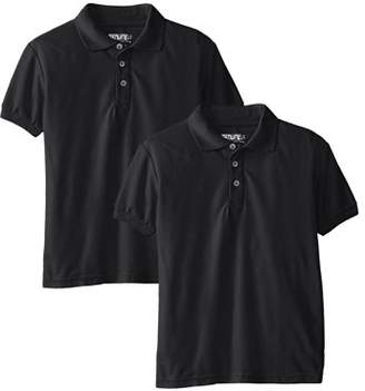 Genuine School Uniform Genuine Uniform Boys Short Sleeve Polo 2 Pack