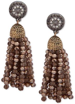 lonna & lilly Two-Tone Crystal & Bead Tassel Drop Earrings