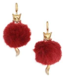 Kate Spade So Foxy Faux Fur Drop Earrings