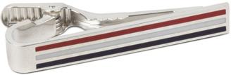 Thom Browne Classic Horizontal Long Tie Bar With RWB Enamel $425 thestylecure.com