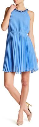 CHETTA B Sleeveless Pleated Dress $118 thestylecure.com
