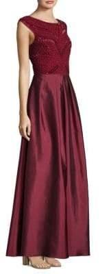 Aidan Mattox Embellished Cap-Sleeve Dress