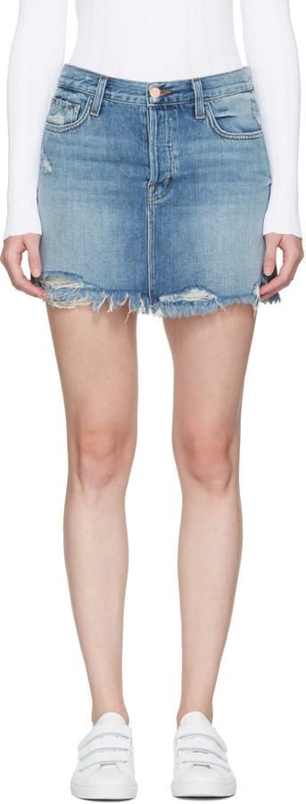 J BrandJ Brand Blue Denim Bonny Miniskirt