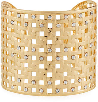 Natasha Accessories Limited Open Crystal-Weave Cuff