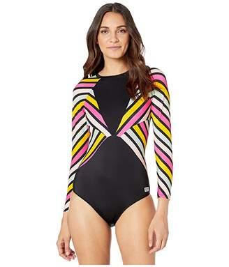 Roxy POP Surf Long Sleeve Back Zip One-Piece Rashguard