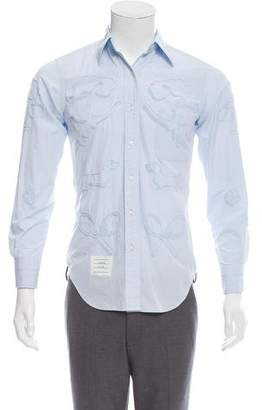 Thom Browne Embroidered Button-Up Shirt