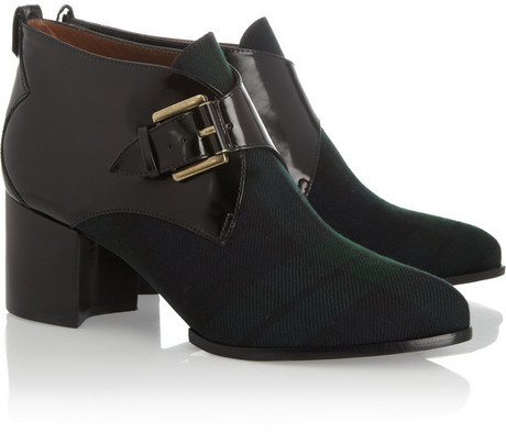 McQ Tartan and leather ankle boots