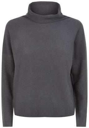 Fabiana Filippi Lurex Roll Neck Sweater
