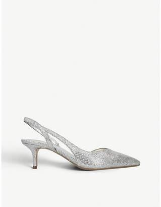 MICHAEL Michael Kors Eliza Flex sparkly-metallic slingback pumps