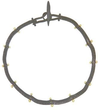 Ten Thousand Things Studded Double Black Chain Bracelet