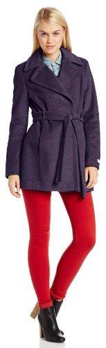 Calvin Klein Women's Lux Belted Wool Coat