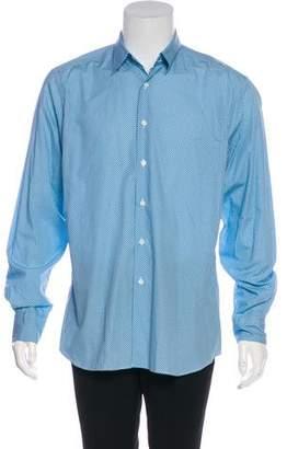 Prada Polka Dot Print Dress Shirt w/ Tags