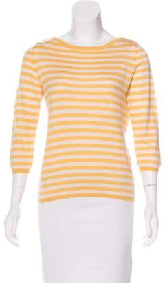 Oscar de la Renta Cashmere Striped Sweater