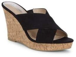 Charles by Charles David Latrice Wedge Heel Leather Sandals