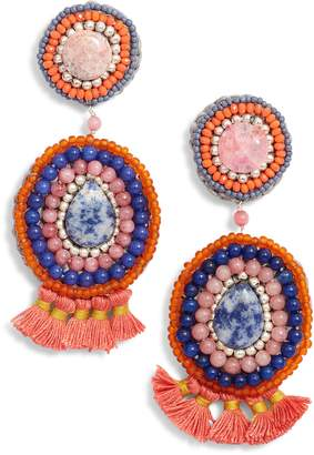 Nakamol Design Circle Crochet Drop Earrings