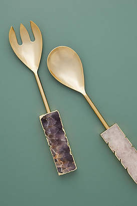 Anthropologie Agate Serving Utensils, Set of 2