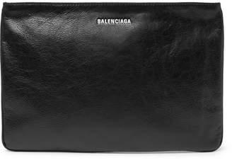 Balenciaga Explorer Creased-Leather Pouch
