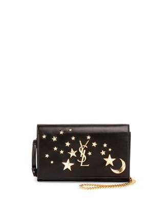 Saint Laurent Monogram Flap Moon & Stars Wallet-on-Chain $1,650 thestylecure.com