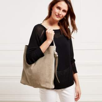 The White Company Suede Knot Side Shopper Bag