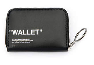 Off-White Quote Medium Grained Zip Wallet