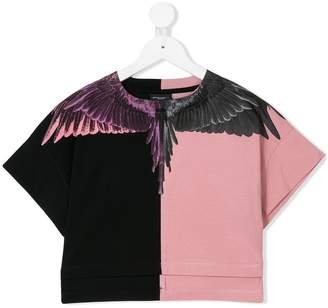 Marcelo Burlon County of Milan Kids wings print cropped T-shirt