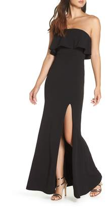LuLu*s Off the Shoulder Maxi Gown