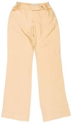 Dolce & Gabbana Mid-Rise Wide-Leg Pants Beige Mid-Rise Wide-Leg Pants