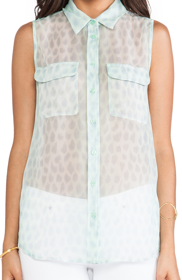 Equipment Sleeveless Peaceful Leopard Slim Signature