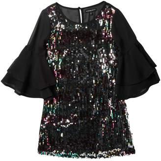 My Michelle mymichelle Ruffle Sleeve Sequin Dress (Big Girls)