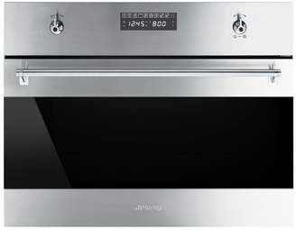 "Smeg 24"" Electric Single Wall Oven with Built-In Microwave"