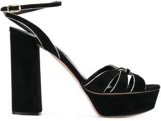 Casadei gold trim sandals
