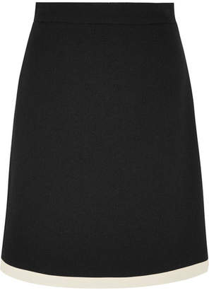 Gucci Two-tone Wool Mini Skirt