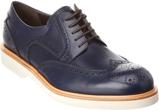 Salvatore Ferragamo Fontana Leather Wingtip Oxford