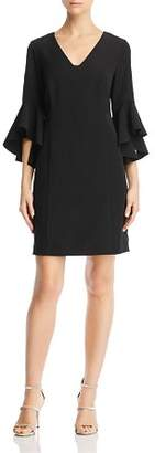 Laundry by Shelli Segal Bell-Sleeve Crepe Dress