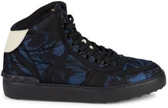 Valentino Garavani Floral-Print High-Top Sneakers