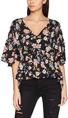 d8df5246d093c8 New Look Women s Reagan Floral V-Neck Regular Fit Floral V-Neck 3