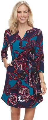 Dana Buchman Women's Henley Shirt Dress