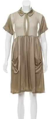 Morgane Le Fay Silk Knee-Length Dress